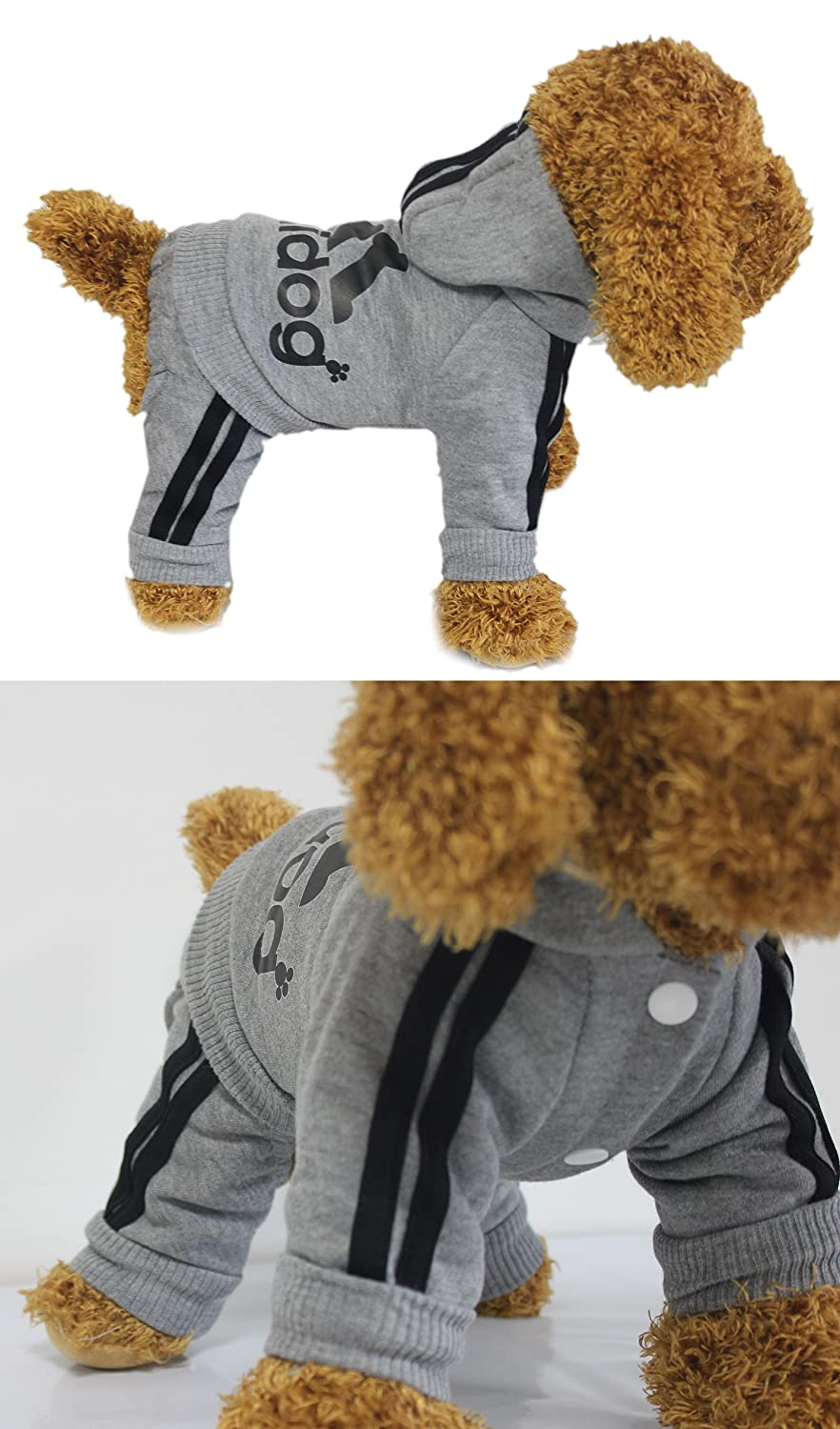Scheppend Super Cute Adidog Sport Coats Pet Clothes Hoodie for Small Medium Large Dogs Cotton Sweater Winter Puppy Cat Outfits Soft T Shirt Warm Sweatshirt