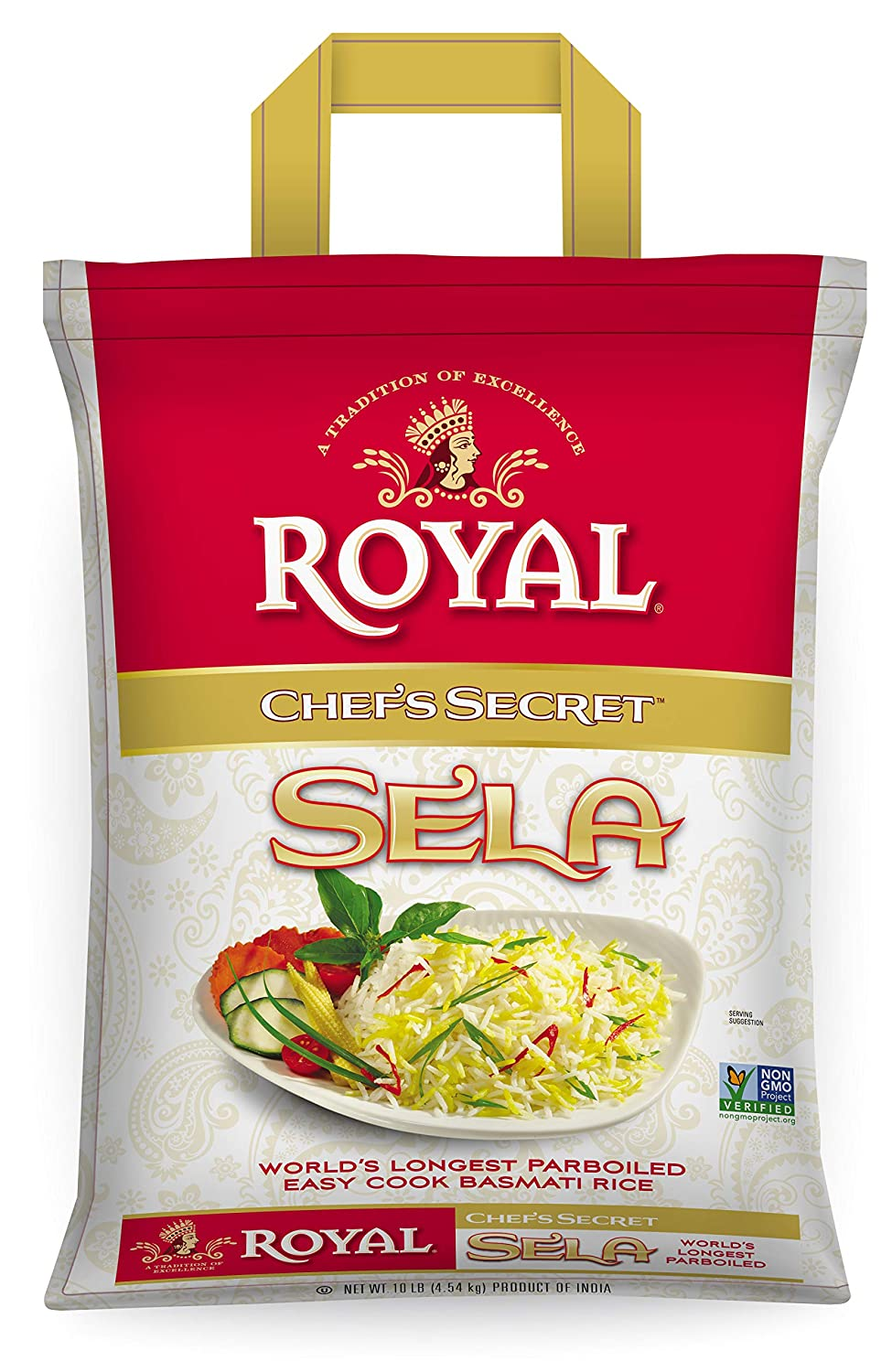 Royal Chef's Secret Parboiled Sella Extra Long Basmati Rice, 10 Pound
