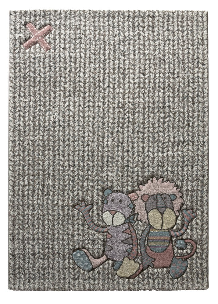 sigikid I kids / children's rug large for bedrooms, nursery, playroom I Patchwork Sweetys I beige grey rose blue I size: 2'7'x 5' ft 80 x 150 cm playroom I Patchwork Sweetys I beige grey rose blue I size: 2' 7x 5 ft 80 x 150 cm Wecon Home