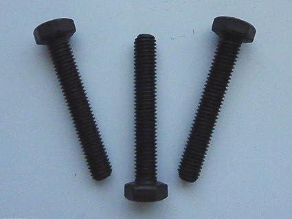 Stahl verzinkt 2 Stk DIN 961 Sechskantschraube M10x1x40 Feingewinde ann/ähernd bis Kopf