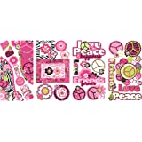 RoomMates RMK2332SCS  Peace Sign Frames Peel and Stick Wall Decals