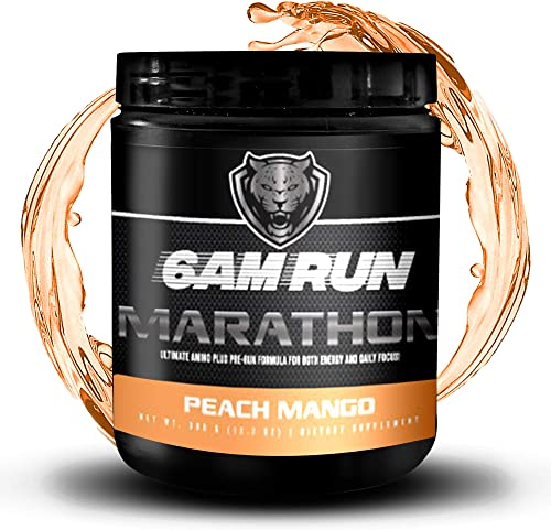 Essential Amino Energy Powder – Peach Iced Tea – Muscle Tea – Sprint Run – Marathon Energy – Pre Workout For Runners – Preworkout For Running – Runners Pre Workout – 6am Run Marathon- 40 Scoops
