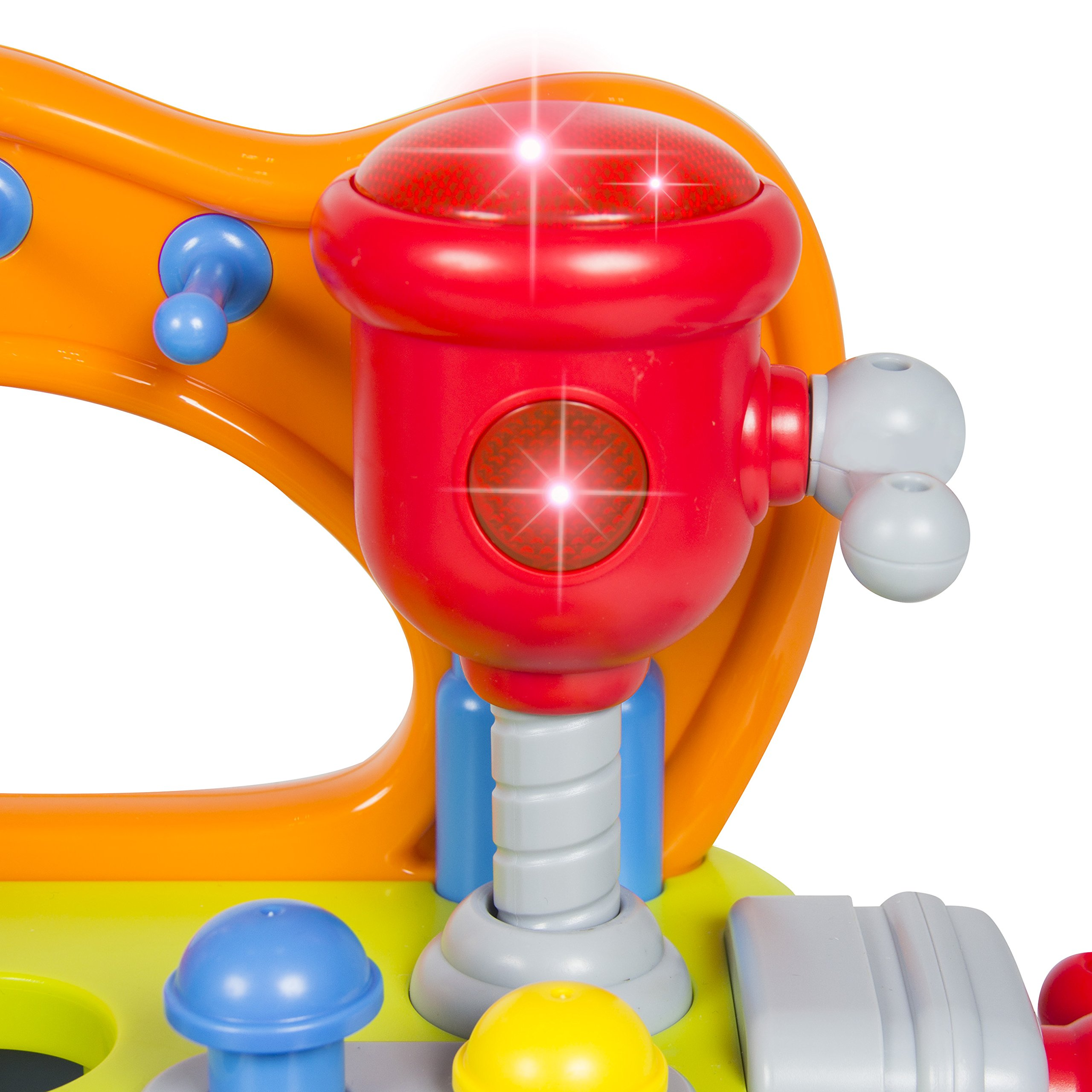Best Choice Products Musical Learning Pretend Play Tool Workbench Toy, Fun Sound Effects & Lights by Best Choice Products (Image #5)