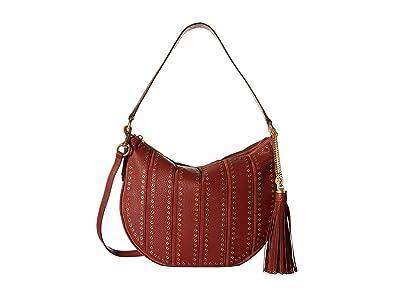 Amazon.com  MICHAEL Michael Kors Womens Brooklyn Leather Convertible Hobo  Handbag Red Large  Shoes 65772cc28a8ee
