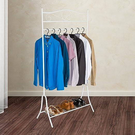 TecTake Perchero soporte colgador de ropa percha burro - disponible en diferentes colores - (Blanco | no. 402011)