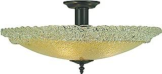 product image for Framburg 2059 MB 3-Light Brocatto Flush/Semi-Flush Mount, Mahogany Bronze