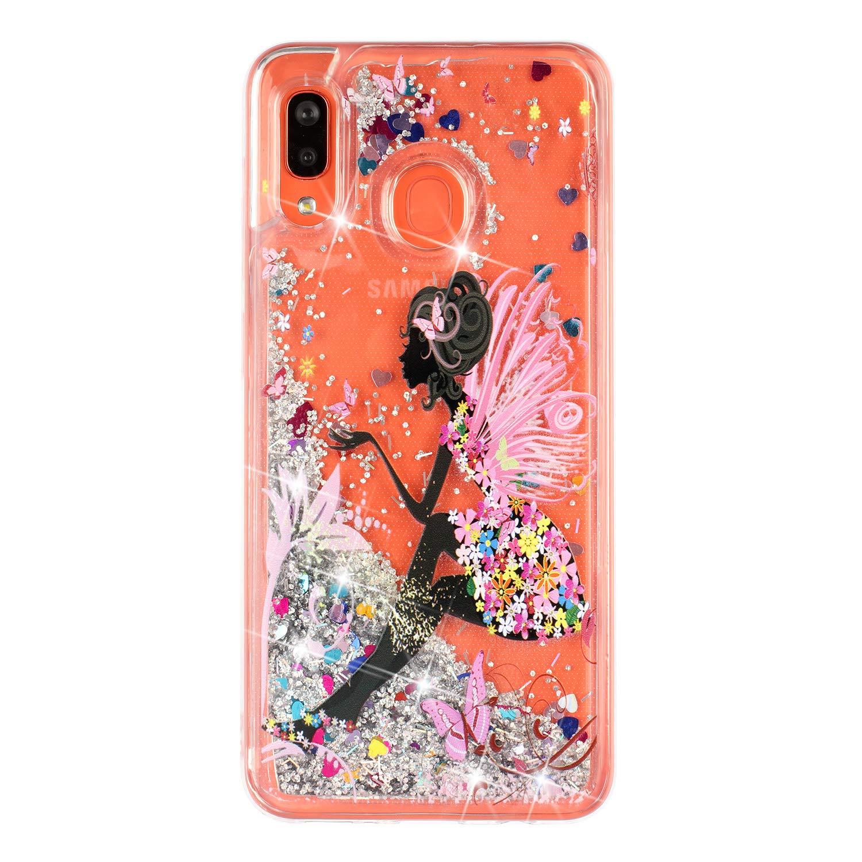 ChoosEU Kompatibel mit H/ülle Samsung Galaxy A40 2019 Silikon Glitzer Transparent Muster 3D TPU Handyh/ülle Durchsichtig Glitter D/ünn Schutzh/ülle Bumper Sto/ßfest Slim Case Soft Cover Blau