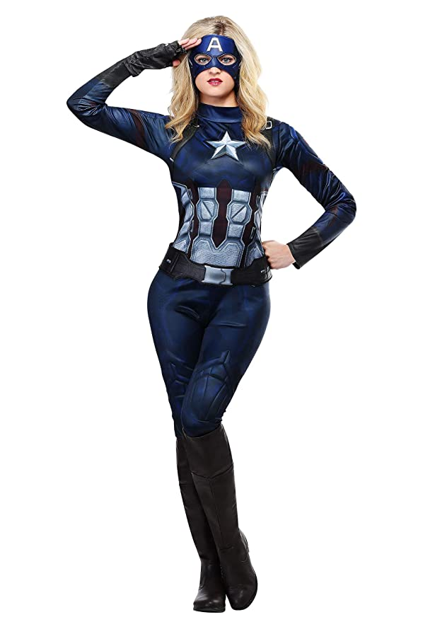 Amazon.com: Rubie s Capitán América para mujer disfraz, XL ...