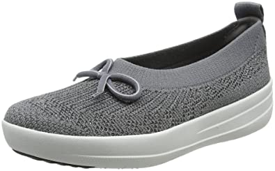 e1228a91e Image Unavailable. Image not available for. Color  FitFlop Uberknit  Ballerina Women s Textile Sneakers ...