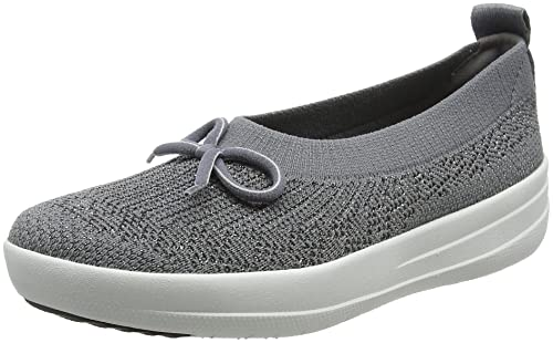 Womens Uberknit Ballerina with Bow-Metallic Closed Toe Ballet Flats FitFlop ShYR4
