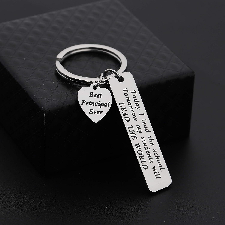 MAOFAED School Principal Keychain Principal Retirement Gift Assistant Principal Jewelry Gift for Principal Teacher