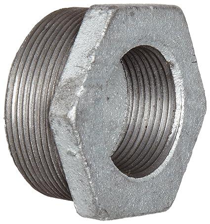 Hex Buchse Klasse 150 NPT Stecker X NPT Buchse silber 3//4 x 1//8 1 Amboss Stahl Rohrverschraubungen verzinkte Oberfl/äche