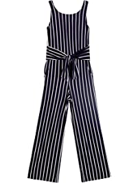 7c325ab2a Byer Girls' Big Sleeveless Jumpsuit, Multi, L