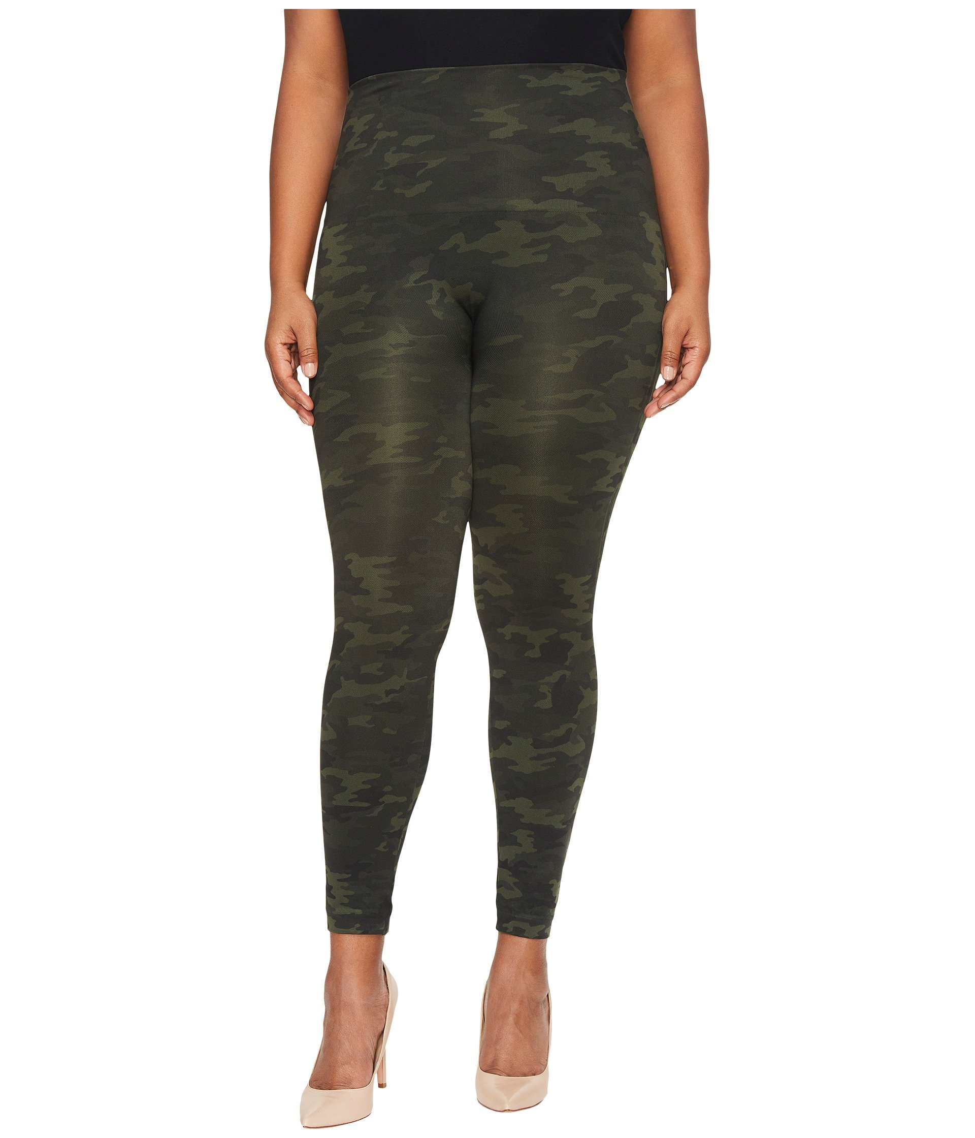SPANX Look at Me Now Leggings - Plus Size, Green Camo, 3X