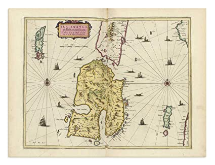 Islay Scotland Map.Amazon Com The Blaeu Prints Isle Of Islay Scotland Historical