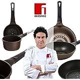 Bergner Sacher: Juego de útiles de cocina: Cazo 16 y Sartén Wok 28 cms.