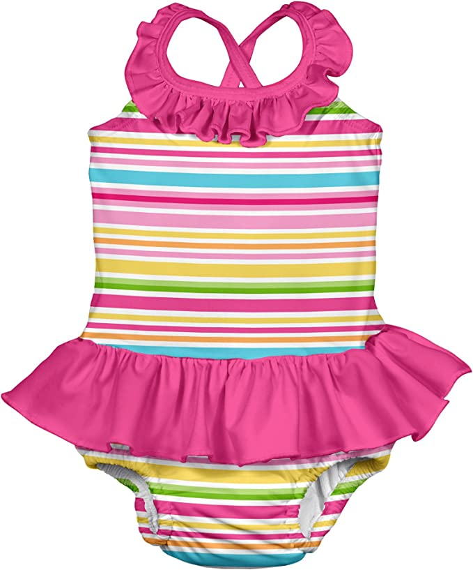 Lot of 3 I Play Girl/'s Bathing Suit Ultimate Reusable Washable Swim Diapers 12M