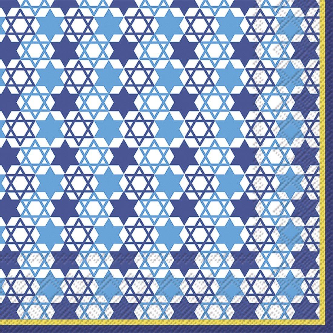 Ideal Home Range 20-Count Festival Of Lights Paper Cocktail Napkins Blue BOSTON INTERNATIONAL C722640