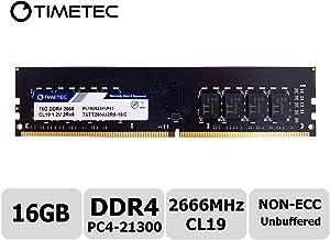 Timetec Hynix IC 16GB DDR4 2666MHz PC4-21300 Unbuffered Non-ECC 1.2V CL19 2Rx8 Dual Rank 288 Pin UDIMM Desktop Memory RAM Module Upgrade (16GB)