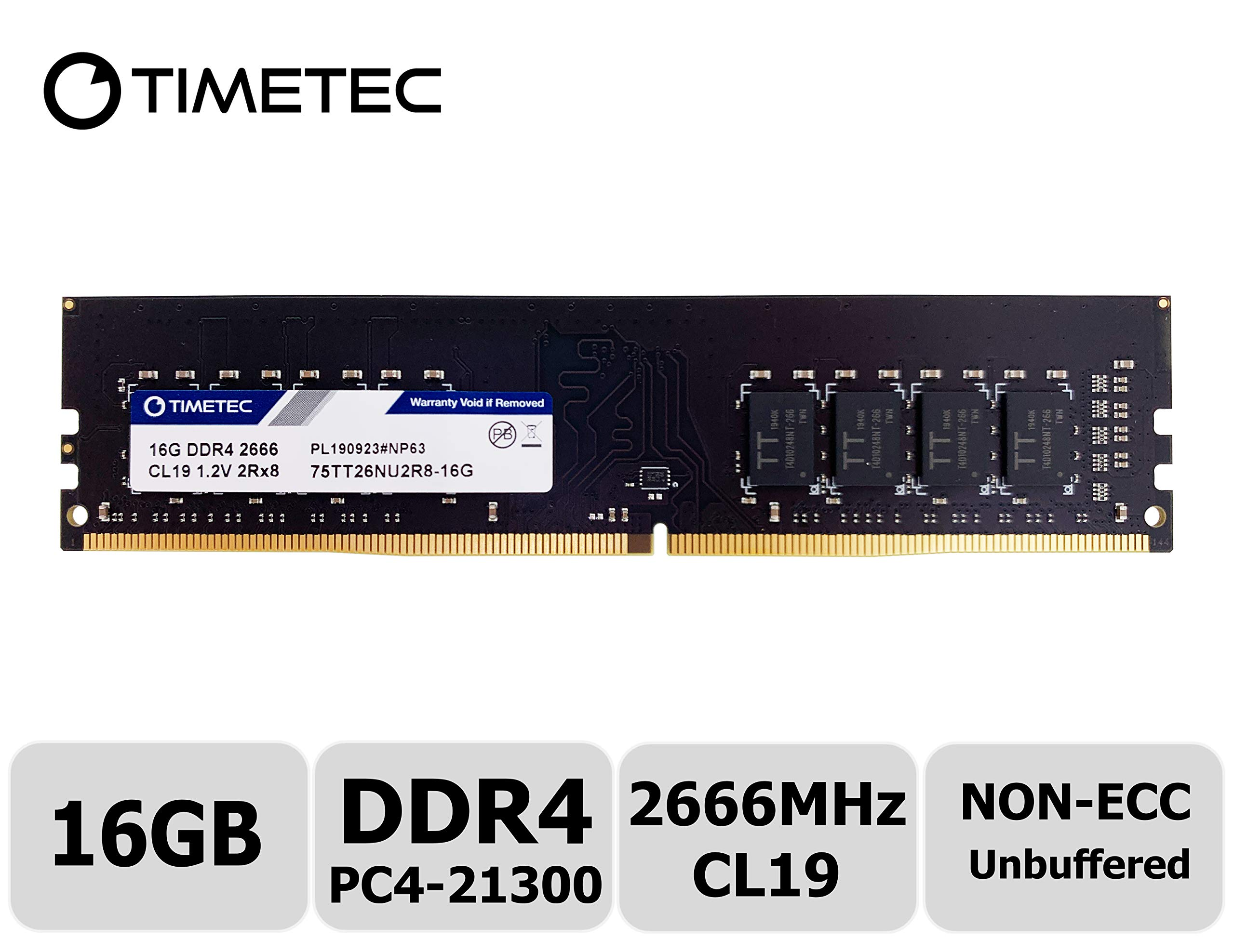 Timetec SUPERMICRO 16GB DDR3 1866MHz PC3-14900 Registered ECC 1.5V CL13 2Rx4 Dual Rank 240 Pin RDIMM Server Memory RAM Module Upgrade 16GB