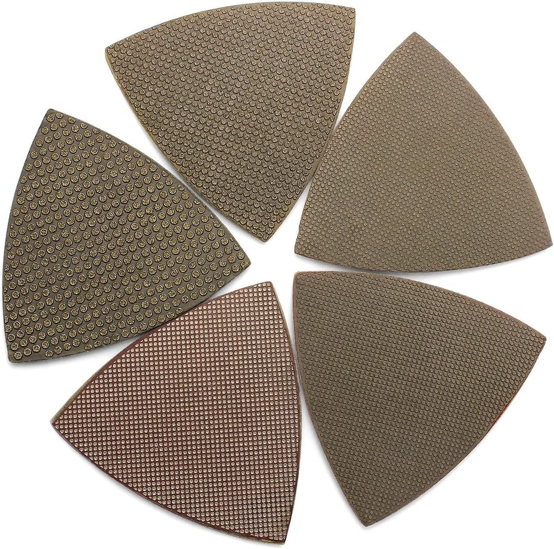 5Pcs//Lot Diamond Triangle Sandpaper Sanding Pads Sheets for Oscillating Tools by Z-LION
