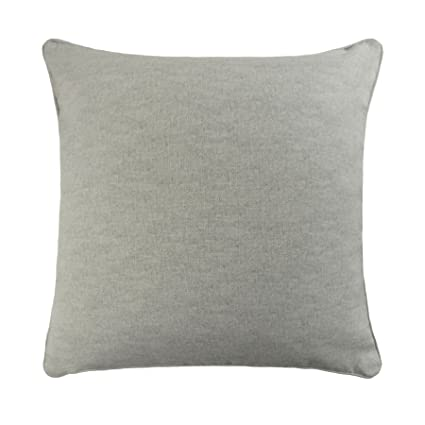 Amazon Filled Plain Silver Grey 100 Cotton Piped 17 43cm