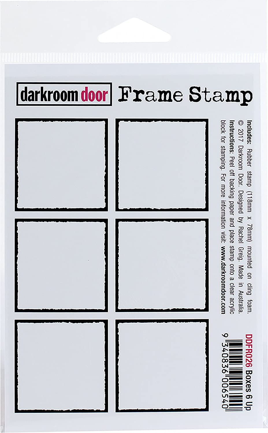 Darkroom Door Boxes 6 up Cling Stamp 4.5'X3' 3 Birds DDFR026