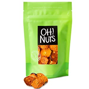 Oh! Nuts Dried Persimmons   Dry Fruits, Exotic Asian Snack Slices   Naturally Sweet, No Additives   In Resealable Stay-Fresh 1-Pound Bulk Bag   Healthy Nutrient Packed Kosher, Paleo, & Vegan Snacking