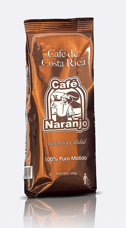 Amazon.com : Costa Rican Coffee Café Naranjo - Ground 250g : Grocery & Gourmet Food