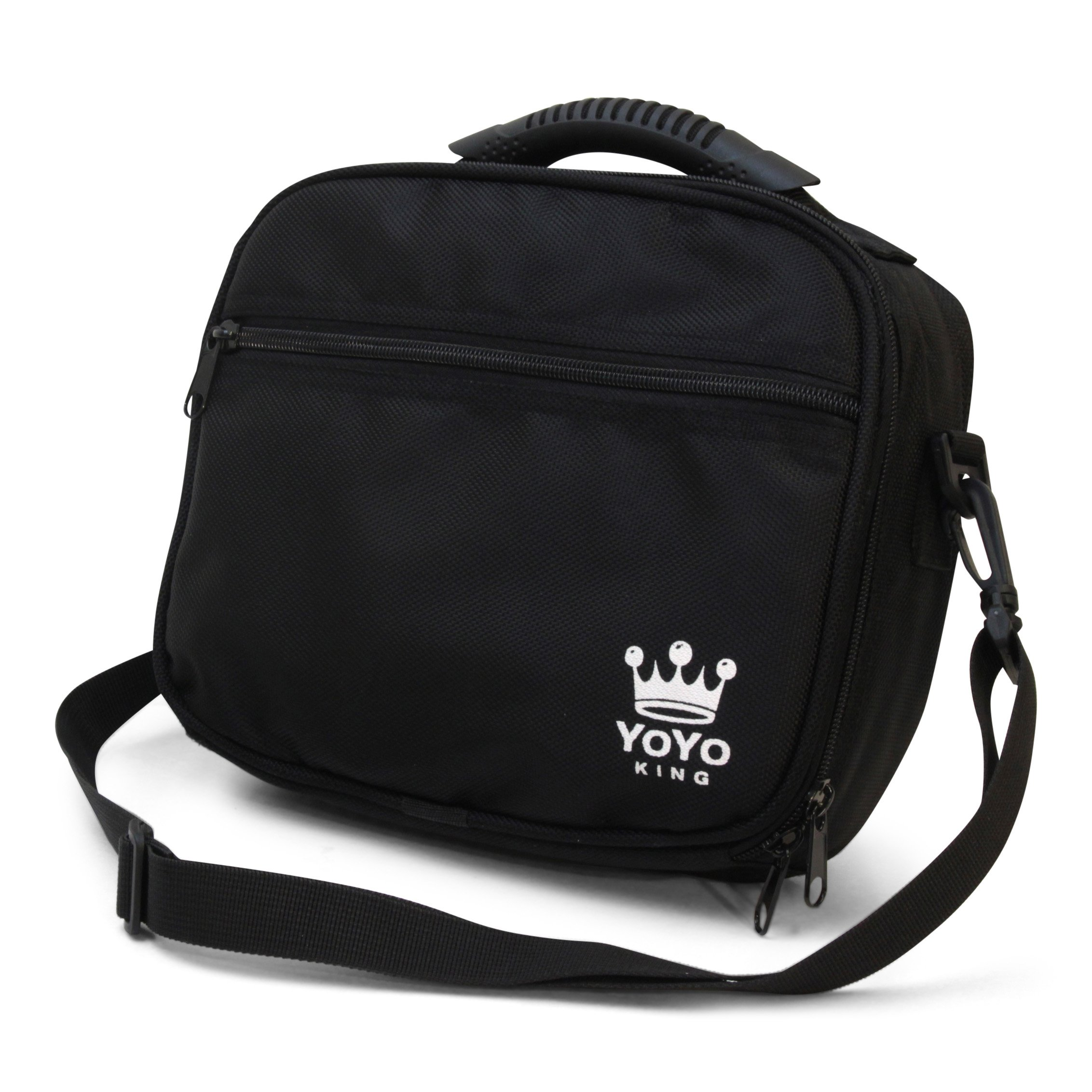 Yoyo King Black Yoyo Bag Heavy Duty Soft Case for Storage of 8 Yoyos and Accessories by Yoyo King