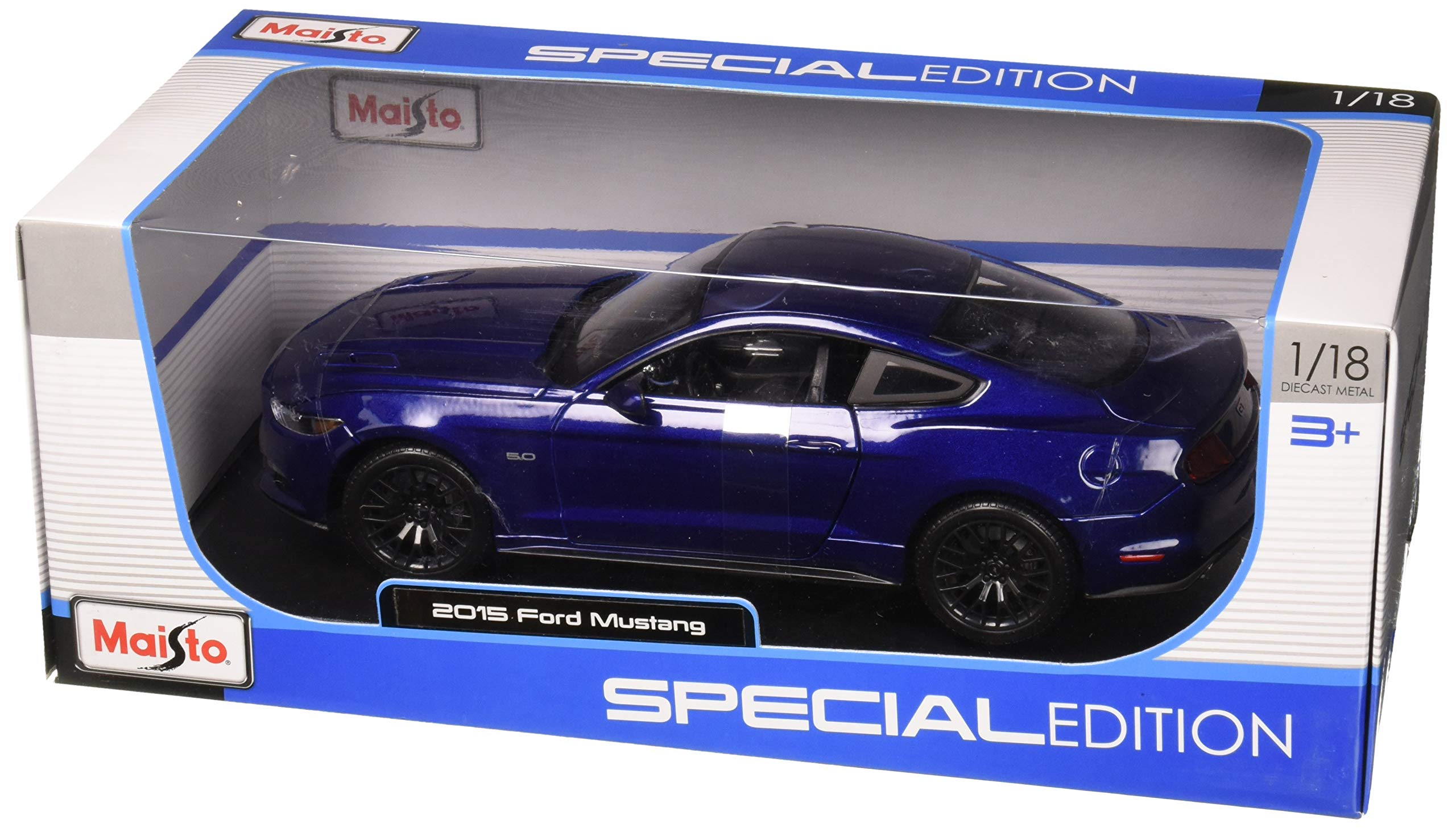 Maisto 31197BL 1:18 Special Edition 2015 Ford Mustang Diecast Vehicles