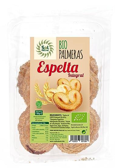 Sol Natural Galletas Palmeritas Espelta - Paquete de 20 x ...