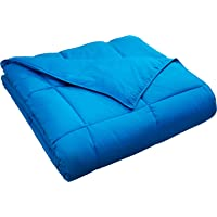 Classic All-Season Down Alternative Comforter with Baffle Box Contruction, King, Aster Blue