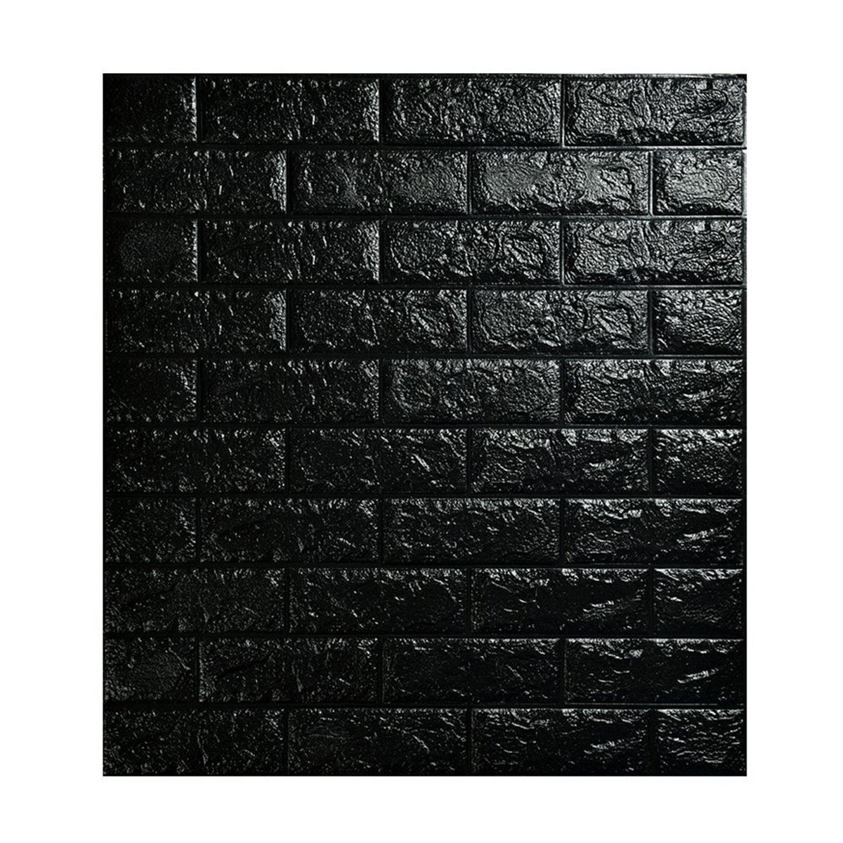 MECCION 3D立体壁紙 DIYレンガ調壁紙シール 70x77CM ウォールステッカー 軽量レンガシール 壁紙シール 自己粘着 防水 多色選択 (ブラック, 5枚入れ) B07D48P5WQ 5枚入れ|ブラック ブラック 5枚入れ