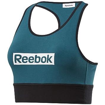 Reebok Te Linear Logo Bralette Sujetador Deportivo, Mujer, hertea ...
