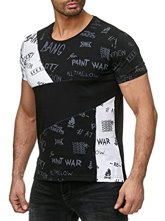 0ebc36f52802 Red Bridge Männer T-Shirt Patchwork Sketches Style Shirt Rundhalsausschnitt  M1240  Amazon.de  Bekleidung