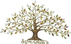 Tree of Life, Metal Tree Art, Gold Tree Home Decor (XXL,Red Tree) …