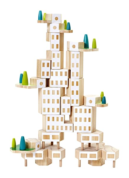 amazon com areaware blockitecture garden city mega set toys games