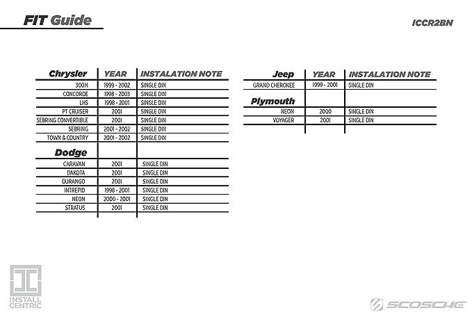 amazon com scosche cr1277b single din installation kit for select