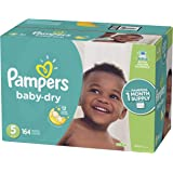 Pampers Baby Dry Disposable Diapers, Size 5,164 Count, ONE MONTH SUPPLY