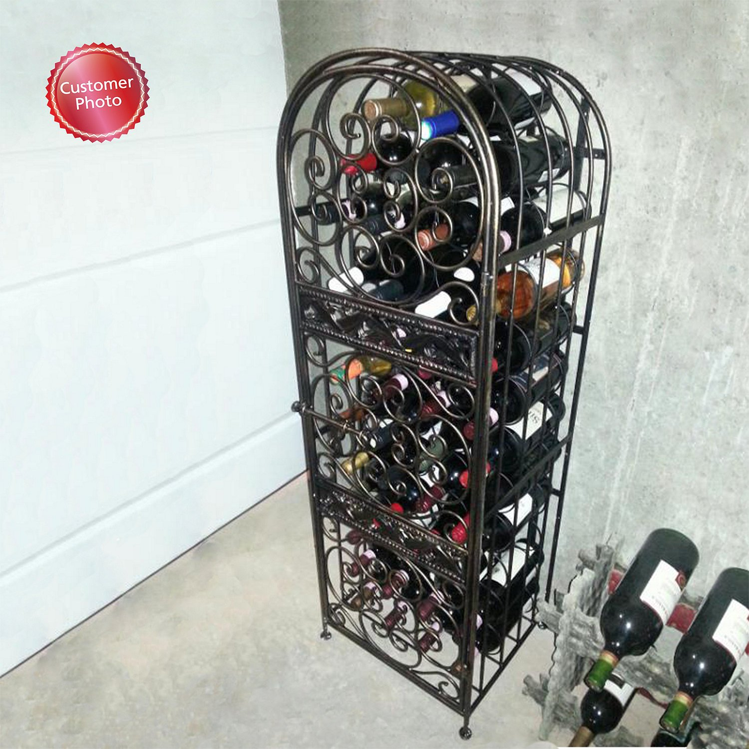 Wine Enthusiast Renaissance Wrought Iron Wine Jail by Wine Enthusiast (Image #3)