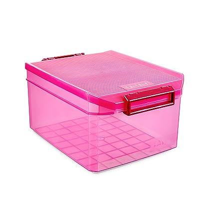 Tatay 1150112 Caja de Almacenamiento Multiusos con Tapa, 14 l de Capacidad, Plástico Polipropileno