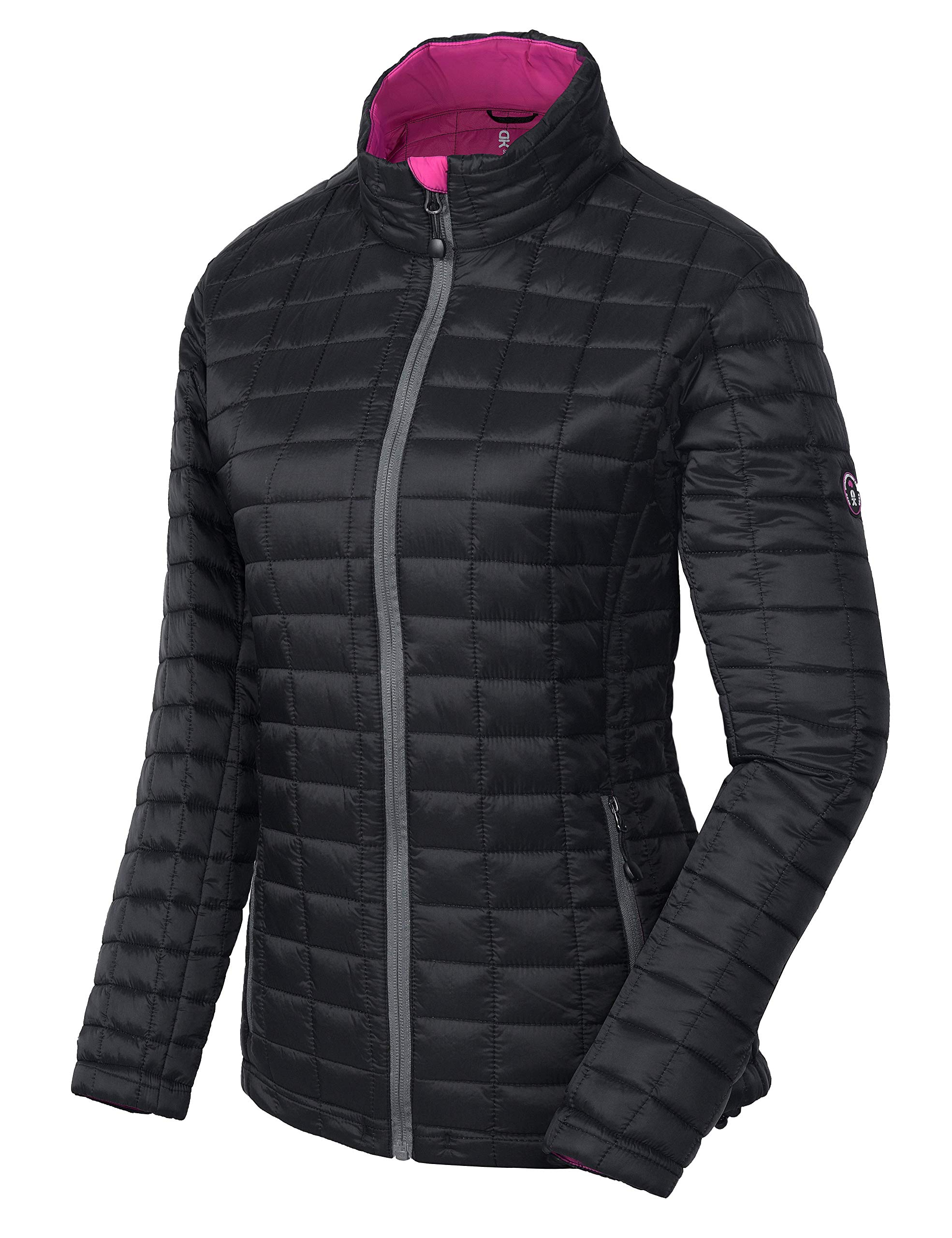 Little Donkey Andy Women's Insulated Jacket, Quilted Puffer Jacket with Eco-Friendly Synthetic Insulation Black L by Little Donkey Andy