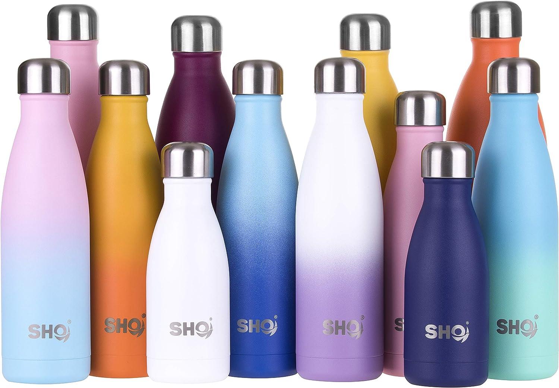 SHO Bottle – Botella Última Aislada por Vacío de Doble Pared de Acero Inoxidable, Botella de Agua y Vaso – 12 Horas Caliente & 24 Fría – Sin BPA – Garantía de Vida