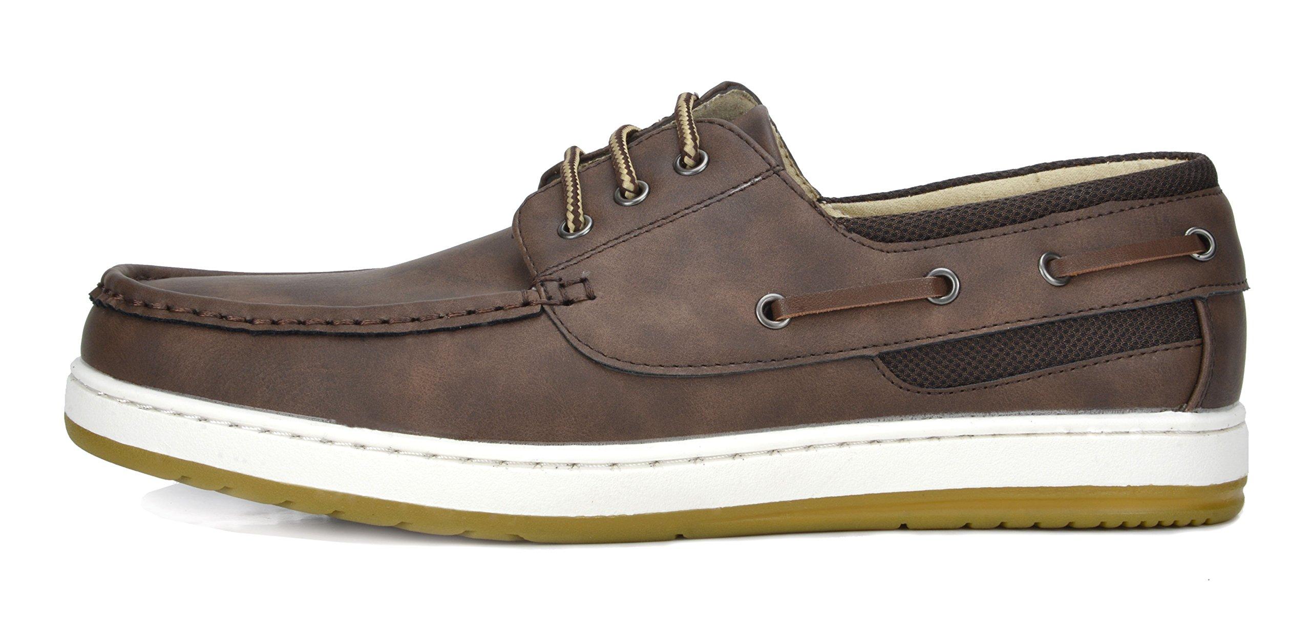 Bruno Marc Men's Pitts_16 DK.BRN/DK.BRN Oxfords Moccasins Boat Shoes Size 11 by Bruno Marc (Image #2)