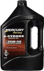 MERCURY OEM Verado 4-Stroke Engine Oil SAE 25W-50 Synthetic Blend One Gallon # 8M0078014