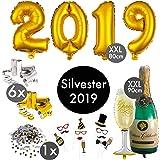 qilicz 2019 happy new year deko set silvester dekoration pompoms blumen spiral girlanden. Black Bedroom Furniture Sets. Home Design Ideas