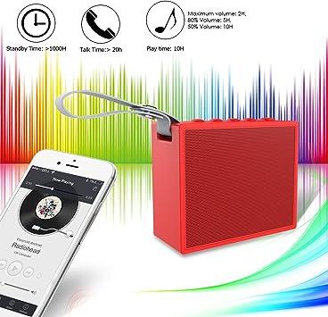 Auto y ducha Altavoz Bluetooth, IP66 impermeable Altavoz Bluetooth ...