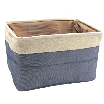 Abonnylv Collapsible Rectangular Fabric Storage Bin Organizer Basket with Handles for Clothes StorageToy Organizer  sc 1 st  Amazon.com & Amazon.com : Abonnylv Collapsible Rectangular Fabric Storage Bin ...
