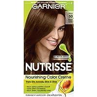 Garnier Nutrisse Nourishing Hair Color Creme, 50 Medium Natural Brown (Truffle)...